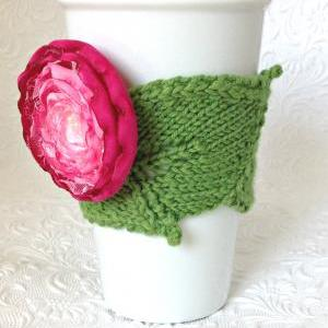 Leaf with Blossom Cup Cuddler